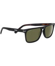 Serengeti Carlo nero lucido occhiali da sole polarizzati 555nm