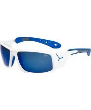 Cebe Ice 8000 occhiali da sole blu bianco lucido