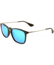 RayBan Rb4187 54 Chris Black 601-55 blu occhiali a specchio