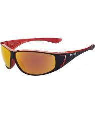 Bolle il rosso brillante occhiali da sole polarizzati fuoco TNS nero Highwood