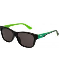 Puma Bambini pj0004s nero occhiali da sole di fumo verde