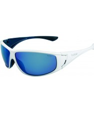Bolle bianco blu polarizzata occhiali da sole blu off-shore lucidi Highwood