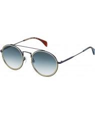 Tommy Hilfiger Th 1455-S bqz 08 blu opaco occhiali da sole
