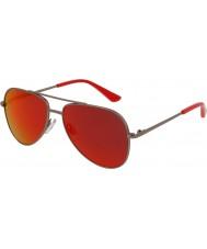 Puma Bambini pj0010s occhiali da sole rossi di rutenio