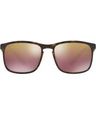 RayBan Rb4264 58 Tech chromance opaco avana 894-6b occhiali da sole a specchio marrone polarizzati