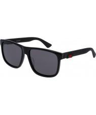 Gucci Mens gg0010s occhiali da sole neri