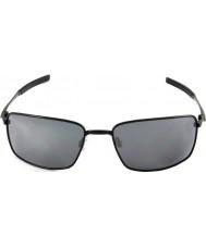 Oakley Oo4075-01 filo quadrato lucido nero - occhiali da sole black iridium