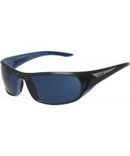 Bolle lucidi blu polarizzata occhiali da sole blu off-shore nero Blacktail