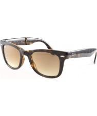 RayBan RB4105 50 pieghevole luce viandante di tartaruga 710-51 gli occhiali da sole