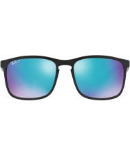 RayBan Rb4264 58 Tech chromance nero opaco 601sa1 occhiali da sole blu Flash polarizzati