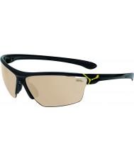Cebe Cinetik grandi occhiali da sole giallo nero lucido