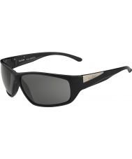 Bolle Keel lucido modulatore nero occhiali da sole polarizzati grigi