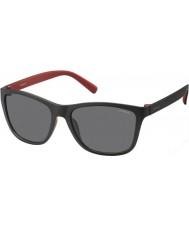 Polaroid Mens pld3011-s LLQ Y2 nero occhiali da sole polarizzati rosse