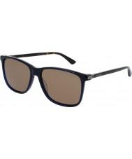 Gucci Mens gg0017s occhiali da sole blu avana