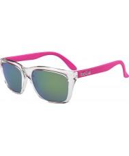 Bolle 527 retrò di raccolta degli occhiali da sole di cristallo lucido rosa marrone smeraldo