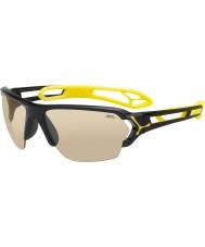 Cebe S-track grandi occhiali da sole neri lucidi