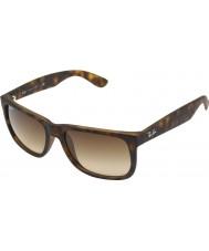 RayBan RB4165 55 justin luce gomma di tartaruga 710-13 gli occhiali da sole