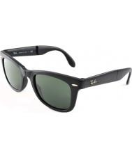 RayBan RB4105 50 pieghevoli viandante opachi 601S neri occhiali da sole