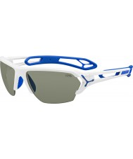 Cebe S-track grandi occhiali da sole bianchi lucidi