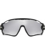 Oakley occhiali da sole Chrome scaricato iridio - Oo9290-19 Jawbreaker lucido nero