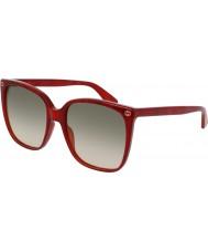 Gucci Donne gg0022s occhiali da sole rossi