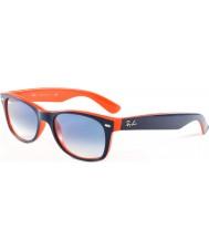 RayBan RB2132 52 nuovo Wayfarer top blu-arancio 789-3f occhiali da sole