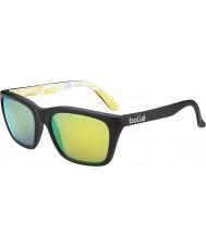 Bolle 527 retrò collezione matt grafica nera occhiali da sole polarizzati marrone smeraldo