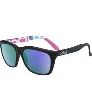 Bolle 527 retrò collezione matt grafica nera occhiali da sole polarizzati blu-violetto