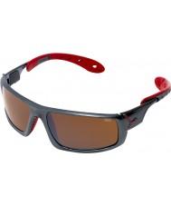Cebe Ice 8000 occhiali da sole rossi grigio scuro