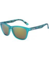 Bolle 437 retrò collezione opaco turchese occhiali da sole polarizzati smeraldo marrone