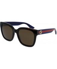 Gucci Donna gg0034s avana blu occhiali da sole