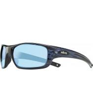 Revo Re4073 guida ii marina woodgrain - acqua polarizzato occhiali da sole blu