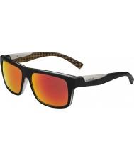 Bolle Clint opaco arancio occhiali da sole neri TNS polarizzato fuoco
