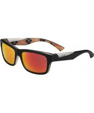 Bolle Jude opaco arancio occhiali da sole neri TNS polarizzato fuoco