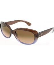RayBan RB4101 58 Jackie ohh marrone sfumato lilla 860-51 gli occhiali da sole
