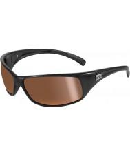 Bolle Recoil lucidi occhiali da sole polarizzati oro interne nere