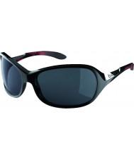 Bolle Grazia lucido corallo nero occhiali da sole polarizzati TNS