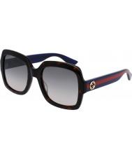 Gucci Donna gg0036s avana blu occhiali da sole