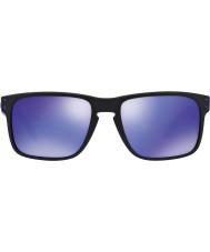 Oakley Oo9102-26 Holbrook Julian Wilson nero opaco - occhiali da sole viola Iridium