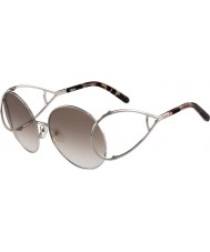 Chloe argento e marrone da donna ce124s occhiali da sole