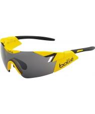 Bolle 6 ° Senso giallo lucido occhiali da sole pistola TNS nero