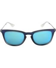 RayBan Rb4221 50 giovanotto girato gomma blu 617055 occhiali da sole