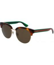 Gucci Mens gg0058sk avana occhiali da sole verdi