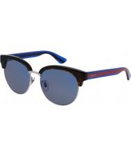 Gucci Mens gg0058sk avana blu occhiali da sole