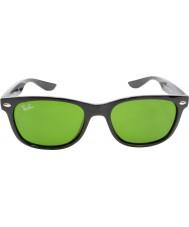 RayBan Junior Rj9052s 47 nuovi viandante lucidi neri 100-2 occhiali da sole