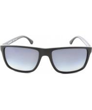 Emporio Armani Ea4033 56 moderni 5229t3 in gomma grigia nera occhiali da sole polarizzati