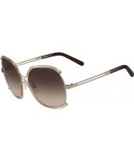 Chloe Donna ce129s rosa marrone occhiali da sole d'oro e transperent