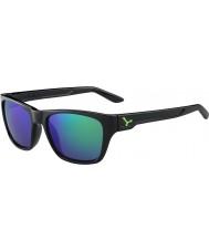 Cebe Hacker nero lucido verde 1500 grigio lampo specchio occhiali da sole verdi