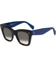 Celine Donne cl 41090-s QLT Z3 nero occhiali da sole blu avana