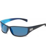Bolle Python nero opaco blu polarizzata GB-10 occhiali da sole